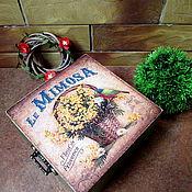 """Короб ручной работы. Ярмарка Мастеров - ручная работа """" Мимоза"""" короб для хранения. Handmade."""