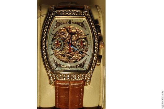 Часы ручной работы. Ярмарка Мастеров - ручная работа. Купить Миллиончик золотые хронографы. Handmade. Золотой, подарок, бриллианты