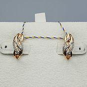 Украшения handmade. Livemaster - original item Gold diamond earrings 0,178 ct. Handmade.