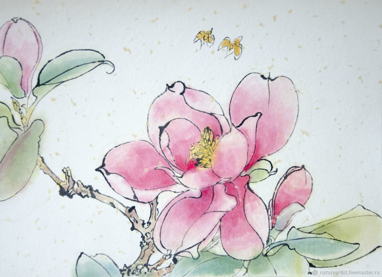 Painting gift watercolor flowers Spring flower, Pictures, Moscow,  Фото №1