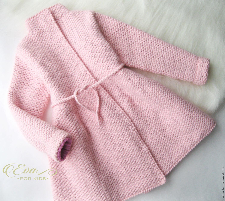 пальто для девочки вязаное фото