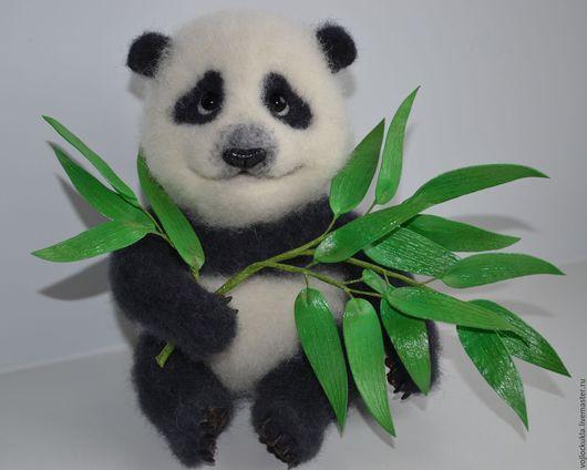 Игрушки животные, ручной работы. Ярмарка Мастеров - ручная работа. Купить Панда Пашка.. Handmade. Чёрно-белый, бамбук