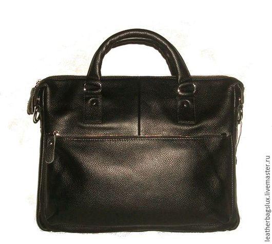 Мужские сумки ручной работы. Ярмарка Мастеров - ручная работа. Купить мужская кожаная сумка для документов -деловая  натуральная кожа. Handmade.