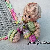 Куклы и игрушки ручной работы. Ярмарка Мастеров - ручная работа Андрюшка-вязаный малыш. Handmade.
