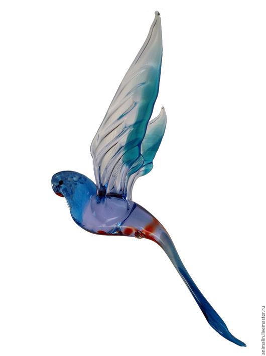 Элементы интерьера ручной работы. Ярмарка Мастеров - ручная работа. Купить Интерьерное подвесное украшение из цветного стекла птица  Попугай Stor. Handmade.