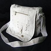 Сумки и аксессуары handmade. Livemaster - original item Large messenger bag on the shoulder sports universal. Handmade.