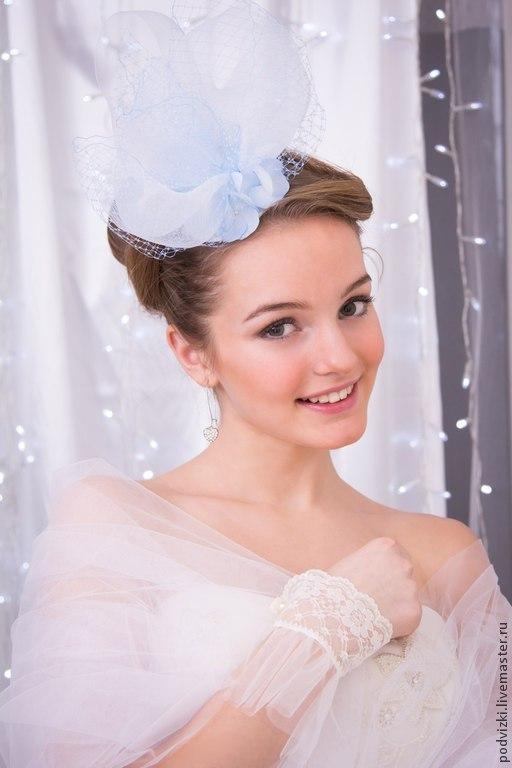 Свадебная шляпа   Шляпа для невесты Ярмарка мастеров Ручная работа