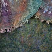 "Одежда ручной работы. Ярмарка Мастеров - ручная работа юбка валяная ""Зеленый мрамор"". Handmade."