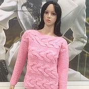 Одежда ручной работы. Ярмарка Мастеров - ручная работа Джемпер нежно-розовый мохеровый 199. Handmade.