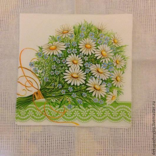 Букет ромашки-незабудки -44 Декупажная радость