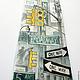 Галстуки, бабочки ручной работы. Шелковый галстук с ручной росписью - Нью-Йорк. ColorDotSilk. Интернет-магазин Ярмарка Мастеров. черный
