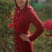 """Одежда ручной работы. Ярмарка Мастеров - ручная работа вязаное пальто """"вкус брусники"""". Handmade."""