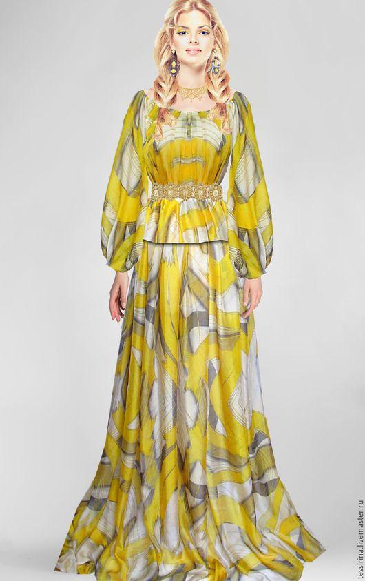 """Шитье ручной работы. Ярмарка Мастеров - ручная работа. Купить Шифон шелковый Escada """"Дженни"""". Handmade. Платье, нарядное платье"""