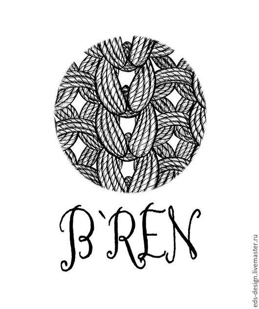 Баннеры для Магазинов мастеров ручной работы. Ярмарка Мастеров - ручная работа. Купить логотип для магазина вязаной одежды. Handmade. Черный