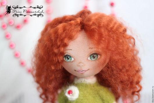 Коллекционные куклы ручной работы. Ярмарка Мастеров - ручная работа. Купить текстильные куклы. Handmade. Рыжий, подарок, коллекционная кукла
