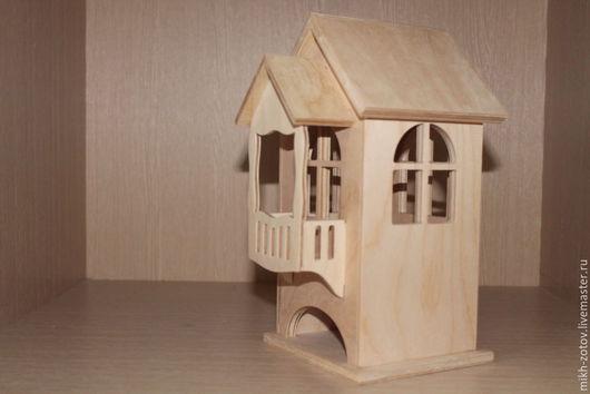Чайный домик  Чайный домик заготовка чайный домик купить  чайный домик ручная работы  чайный домик подарок Размеры 10см х 10.8 см х 24 см. с балконом 135х 10.8см х 24 см.