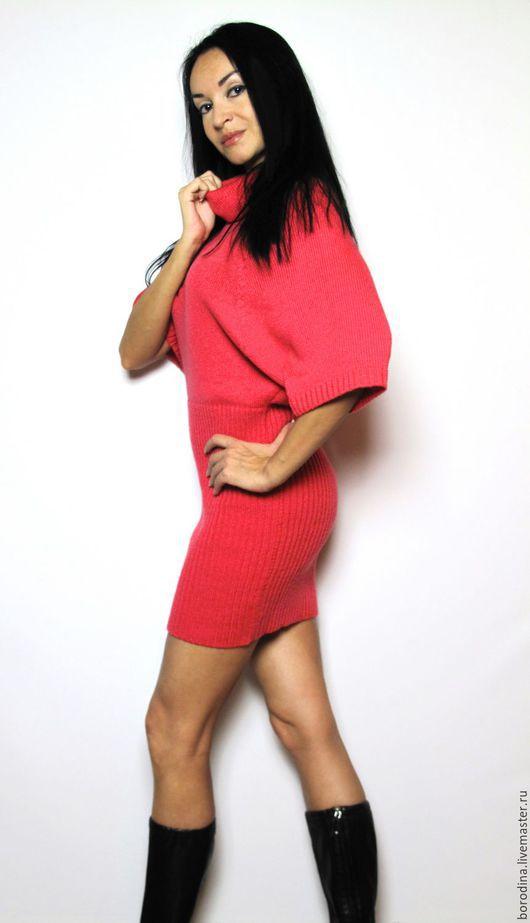 """Платья ручной работы. Ярмарка Мастеров - ручная работа. Купить Платье """"Ferrari"""". Handmade. Коралловый, платье, итальянская пряжа, роза"""