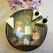 Для дома и интерьера ручной работы. Ярмарка Мастеров - ручная работа Сырная досточка. Handmade.