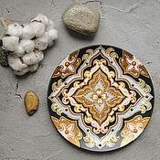 Посуда ручной работы. Ярмарка Мастеров - ручная работа Декоративная тарелка Восточная. Handmade.