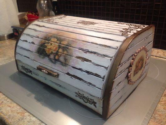 """Кухня ручной работы. Ярмарка Мастеров - ручная работа. Купить Хлебница """"Кантри шик"""". Handmade. Хлебница из дерева"""