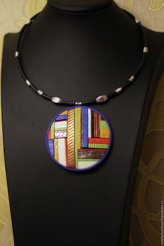 Кулоны, подвески ручной работы. Ярмарка Мастеров - ручная работа. Купить кулон  Мозаика из полимерной глины. Handmade. Комбинированный, украшение