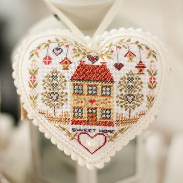 Куклы и игрушки ручной работы. Ярмарка Мастеров - ручная работа Сердце с вышивкой SWEET HOME. Handmade.