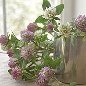 Цветы и флористика handmade. Livemaster - original item Clover.Botanical sculpture.. Handmade.