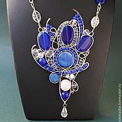 Украшения handmade. Livemaster - original item Necklace Flaming Blue. Handmade.