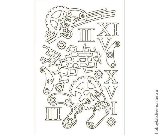 Открытки и скрапбукинг ручной работы. Ярмарка Мастеров - ручная работа. Купить Набор чипборда Следы времени 2. Handmade. Чипборд