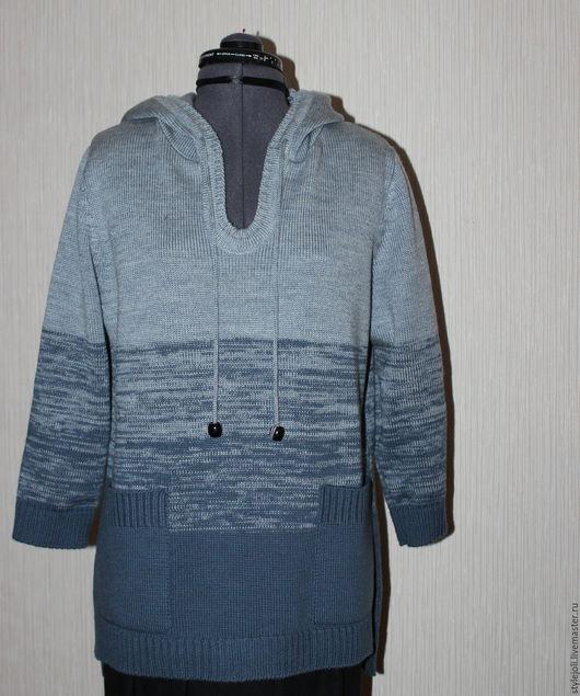 Кофты и свитера ручной работы. Ярмарка Мастеров - ручная работа. Купить Свитшот с капюшоном Обаяние серого. Handmade. Серый