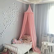 Canopy for crib handmade. Livemaster - original item Pale pink canopy bed