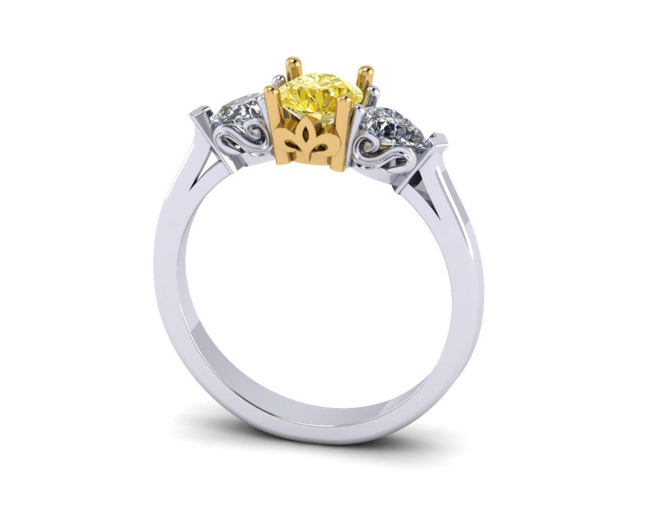 Кольцо с желтым бриллиантом купить