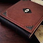 Фотоальбомы ручной работы. Ярмарка Мастеров - ручная работа Кожаный фотоальбом «Гардиан» 21х25 см. Handmade.