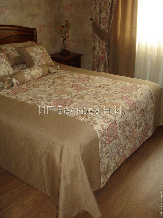 Текстиль, ковры ручной работы. Ярмарка Мастеров - ручная работа. Купить Покрывало с подушками - комплект ПОЛИН. Handmade. Комбинированный, милый