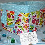 """Короб ручной работы. Ярмарка Мастеров - ручная работа Коробка для игрушек """"Совушки"""". Handmade."""