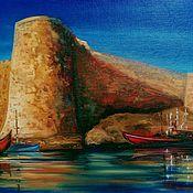 Картины и панно handmade. Livemaster - original item Painting Citadel (Kerinian fortress). Handmade.
