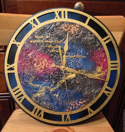 Часы для дома ручной работы. Ярмарка Мастеров - ручная работа. Купить Часы. Handmade. Тёмно-синий, арт-деко