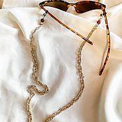 Украшения handmade. Livemaster - original item Suspension for glasses with amber. Handmade.