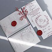 Свадебный салон handmade. Livemaster - original item INVITATIONS: Vivid feelings. Handmade.