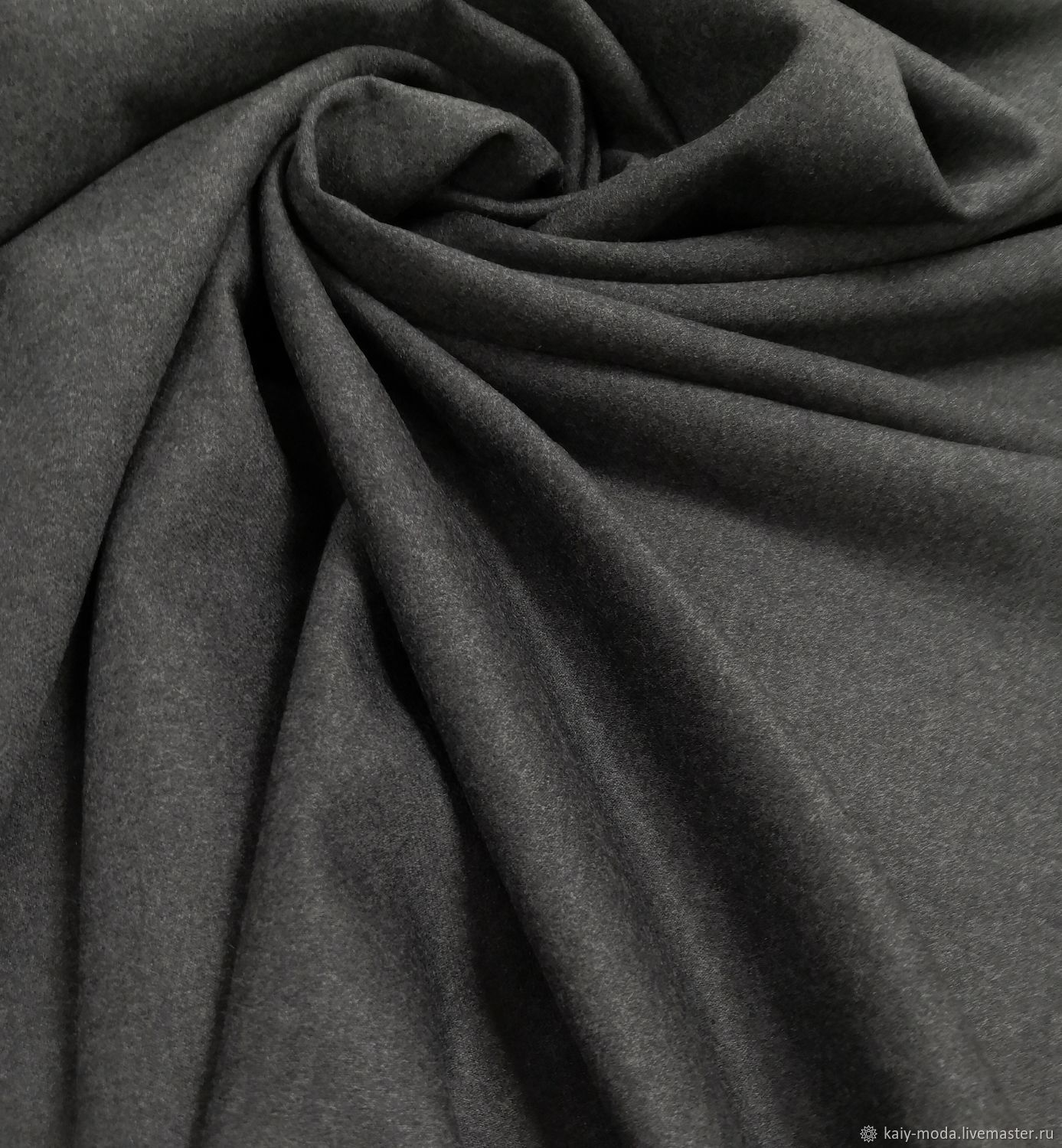 Marzotto wool-graphite grey, Fabric, Moscow,  Фото №1