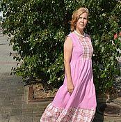 Одежда ручной работы. Ярмарка Мастеров - ручная работа Платье изо льна  Дарина. Handmade.
