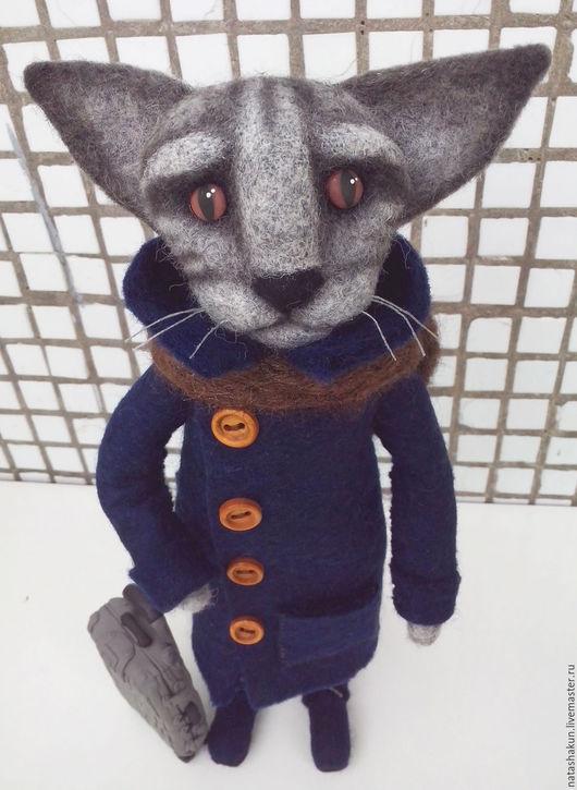 """Игрушки животные, ручной работы. Ярмарка Мастеров - ручная работа. Купить Интерьерная игрушка """"Кот путешественник"""", оригинальный подарок. Handmade."""
