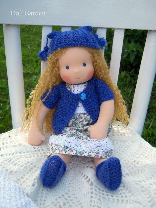 Вальдорфская игрушка ручной работы. Ярмарка Мастеров - ручная работа. Купить Незабудка. вальдорфская кукла. Handmade. Синий, подарок девочке