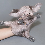 Куклы и игрушки ручной работы. Ярмарка Мастеров - ручная работа Поросёнок. Перчаточная кукла.. Handmade.