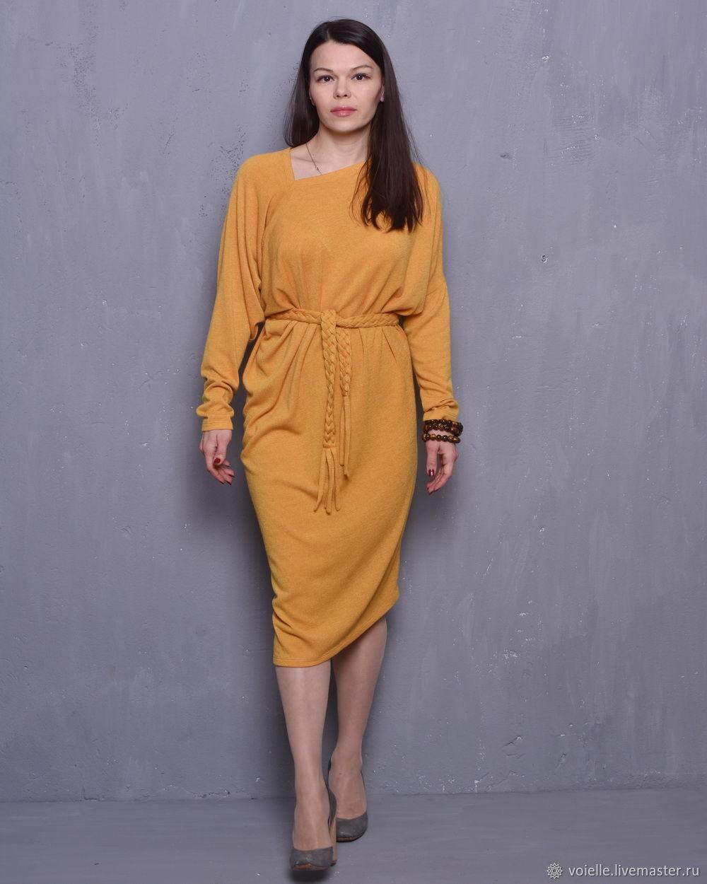 133a425a25aa2 Dress mustard knitted