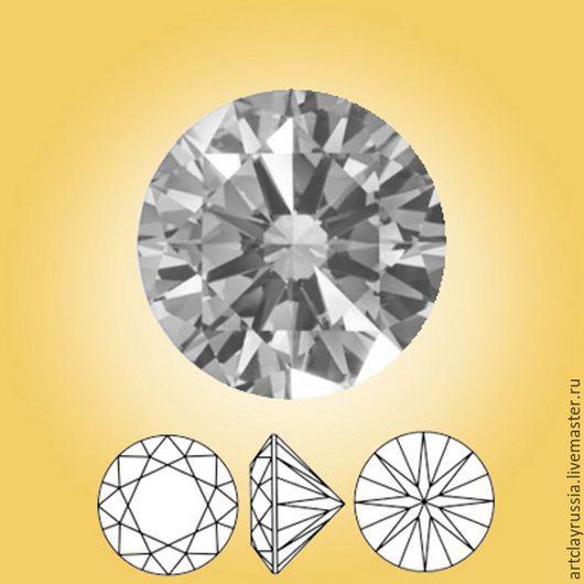 Для украшений ручной работы. Ярмарка Мастеров - ручная работа. Купить Нанокристалл. Серый алмаз. 2,5 мм. 10 шт.. Handmade.