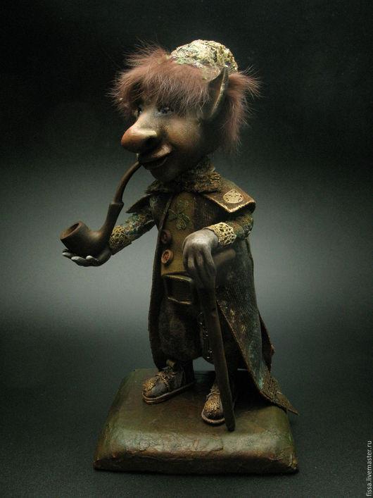 Коллекционные куклы ручной работы. Ярмарка Мастеров - ручная работа. Купить Лепрекон Риган. Handmade. Комбинированный, подарок на новый год