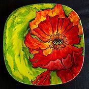 """Посуда ручной работы. Ярмарка Мастеров - ручная работа Декоративная тарелка""""Мак`. Handmade."""