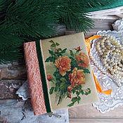 """Канцелярские товары ручной работы. Ярмарка Мастеров - ручная работа Блокнот """" Винтажные розы """". Handmade."""