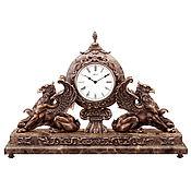 Часы классические ручной работы. Ярмарка Мастеров - ручная работа Скульптура из бронзы Часы Грифоны. Handmade.